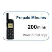 Iridium 200 minute 6 month Prepaid Satellite Phone SIM Card