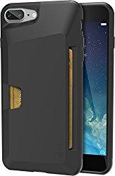 Silk iPhone 7 Plus Wallet Case – Vault Slim Wallet for iPhone 7+ [Ultra Slim Grip Card Case] – Black Onyx