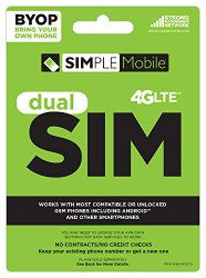 Simple Mobile BYOP Dual SIM Card – T-Mobile Compatible