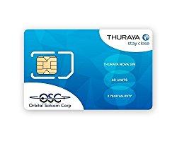 Thuraya Satellite Phone NOVA SIM with 40 Units (44 Minutes) From Orbital Satcom