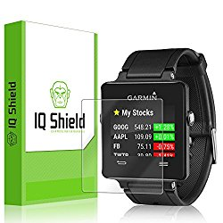 Garmin Vivoactive Screen Protector, IQ Shield® LiQuidSkin (6-Pack) Full Coverage Screen Protector for Garmin Vivoactive HD Clear Anti-Bubble Film – with Lifetime Warranty