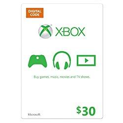 Xbox Live $30 Gift Card – Digital Code