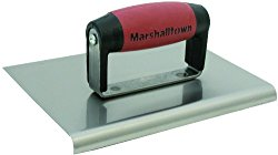 MARSHALLTOWN The Premier Line 163SSD 6-Inch by 6-Inch Stainless Steel Edger with DuraSoft Handle