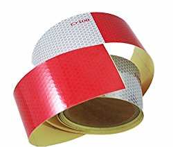 ABN DOT-C2 2″ X 10′ Trailer Conspicuity DOT Reflective Red/White Tape