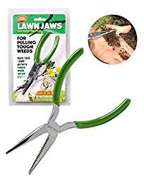 The Original Lawn Jaws Sharktooth Weed Remover Weeding & Gardening Tool – Pull from the Root Easily!