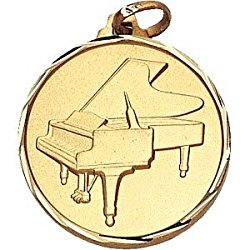 1 1/4 Inch Silver Piano Medal