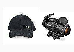 Vortex Optics SPR-1303 Spitfire 3x Prism Scope with EBR-556B Reticle (MOA), and FREE Vortex Baseball Hat