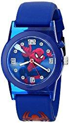 Marvel Ultimate Spider-Man  Kids' SPD3425 Analog Display Analog Quartz Blue Watch