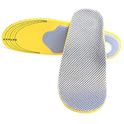 High arch support 3D premium comfortable shoes orthotic insoles inserts