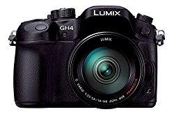 Panasonic LUMIX GH4 DMC-GH4H-K Mirrorless SLR, 14-140mm Lens Kit (Black) – International Version