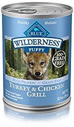 Blue Buffalo Wilderness Puppy Turkey & Chicken – Grain Free  12.5 oz, Pack of 12