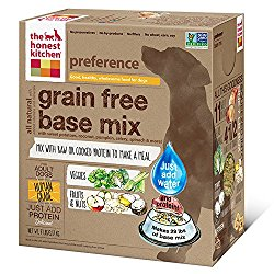 The Honest Kitchen Preference: Dehydrated Grain Free Base Mix Dog Food, Just Add Protein, 7 lbs (Makes 29 lbs of Base Mix)