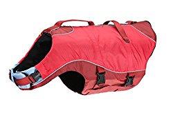 Kurgo Surf N Turf Dog Life Jacket, Red, Medium