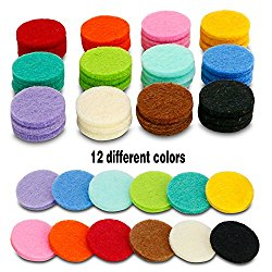 48 Pcs Essential Oil Diffuser Locket Necklace Refill Pads / Aromatherapy Diffuser Necklace Replacement Pads / Thickened / Washable / Highly Absorbent for Aroma Diffuser Pendant Necklace
