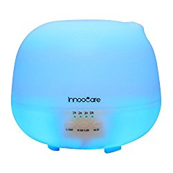 500 Milliliter Essential Oil Diffuser, InnooCare Ultrasonic Cool Mist Humidifier, 4 Timer Setting Aromatherapy Diffuser,  Auto Shut-off for Office Home Bedroom Baby Room Study Yoga Spa