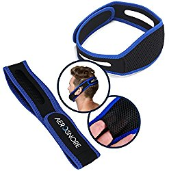 Adjustable Stop Snoring Chin Strap – Super Soft Non-itchy Premium Snoring Solution by AeroSnore – Instant Anti Snoring – A Natural Snore Relief – Easy to Wear – Perfect for a Good Night Sleep