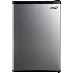 Arctic King 2.6 cu ft 1-Door Compact Refrigerator | Separate Chiller Compartment, Stainless Steel Look