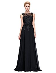 Black Long Prom Gown Backless Bridesmaid Evening Dresses