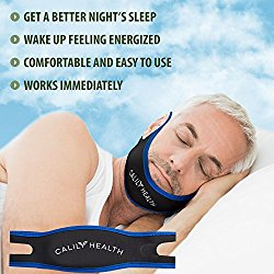 Calily Health Fully Adjustable Anti-Snoring Chin Strap – Natural and Instant Snore Relief – Stop Snoring Solution – Fast, Natural and Simple