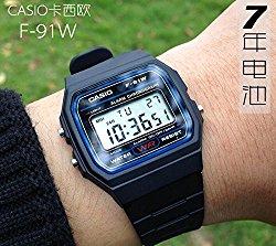 Casio F91W-1 Classic Resin Strap Digital waterproof Sport Watch