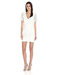 French Connection Women's Mesi Macrame Jersey Dress, Summer White, 0