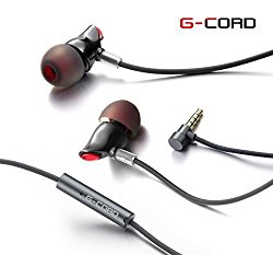 G-Cord In-Ear Ceramic Earphones Stereo Earbuds for SmartPhones Laptop Tablets MP3 Players with 3.5mm Audio Port