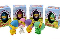Lil' Sprouts Hatching Easter Eggs – (4 Pack) ~ Watch Them Grow Overnight