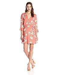 MINKPINK Women's Lovina Wrap Floral Print Dress, Multi, Large
