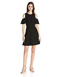 Nanette Nanette Lepore Women's Cold Shoulder Dress, Very Black, 8