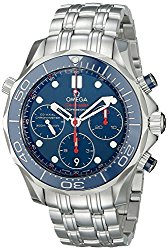 Omega Men's 21230425003001 Analog Display Automatic Self Wind Silver Watch