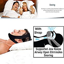 Professional Anti Snore Stop Snoring CPAP Chin Strap by JERN (Adjustable Size) – 1 Pack
