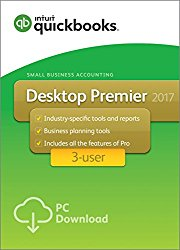 QuickBooks Desktop Premier 2017 with Industry Editions Small Business Accounting Software 3-User [PC Download]
