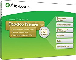 QuickBooks Desktop Premier 2017 with Industry Editions Small Business Accounting Software [PC Disc]