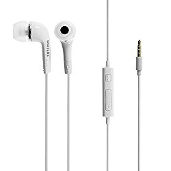 Samsung 3.5mm Stereo Headset for Galaxy S5, S4, S3, Note – Non-Retail Packaging – White