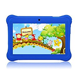 Tagital 7″ T7K Quad Core Android Kids Tablet, with Wifi and Camera and Games, HD Kids Edition with Kid Mode Pre-Installed (Blue)