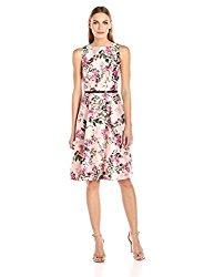 Ted Baker Women's Clarbel Blossom Jacquard V Back Dress, Mid Pink, 4