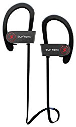 Wireless Sport Bluetooth Headphones – Hd Beats Sound Quality – Sweat Proof Stable Fit In Ear Workout Earbuds – Ergonomic Running Earphones – Noise Cancelling Microphone w/ Travel Case – by Bluephonic