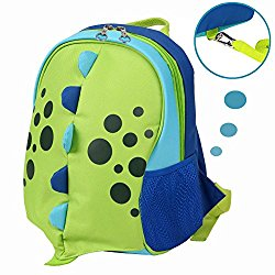 Yodo Upgraded Kids Insulated Toddler Backpack with Safety Harness Leash and Name Label – Playful Preschool Lunch Boxes Carry Bag, Dinosaur