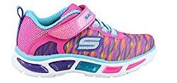 Girl's Skechers, Litebeams Colorburst Slip on Light up Shoes