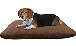 Do It Yourself DIY Pet Bed Pillow Duvet Cover + Waterproof Internal case for Dog / Cat at Large 36″X29″ brown color with Denim fabric – Covers only