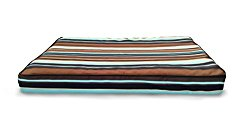 Furhaven Orthopedic Mattress Pet Bed, Jumbo, Espresso Stripe, for Dogs and Cats