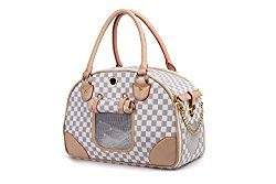 White and Beige Travel Pet Carrer – Bag for Dogs and Cats