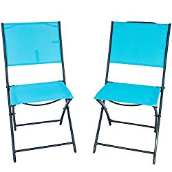 how much does patiopost 2 pack outdoor iron sling textilene mesh fabric folding armless chair. Black Bedroom Furniture Sets. Home Design Ideas