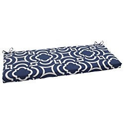Pillow Perfect Indoor/Outdoor Carmody Bench Cushion, Navy