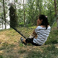 EarlyBirdSavings Meshy Rope Hammock Sleeping Net Bed for Hiking, Nylon