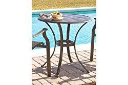 Panama Jack Outdoor Island Breeze Slatted Aluminum Bistro Dining Table, 30-Inch