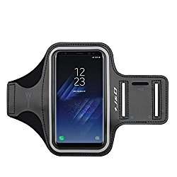 Galaxy S8 Plus Armband, J&D Sports Armband for Samsung Galaxy S8 Plus, Key holder Slot, [Easy Fitting] Earphone Connection while Workout Running – Black