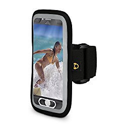 iPhone 7 Plus Sport Running Armband, Fingerprint Touch Supported, Lightweight, Sweat Resistant, Flexible Arm Strap, Reflective Safety Band
