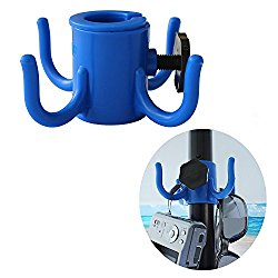 Ammsun New Beach Umbrella Hanging Hook,4-prongs Plastic Umbrellas Hook Hanging for Towels /Camera/Sunglasses/ Bags,Fit for Beach,Camping Trips, Blue