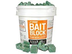 JT Eaton 709-PN Bait Block Rodenticide Anticoagulant Bait, Peanut Butter Flavor, For Mice and Rats (Pail of 144)